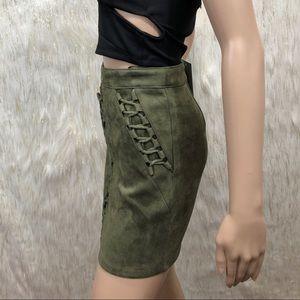 LF Skirts - LF Seek the label Suede Mini Skirt. XS